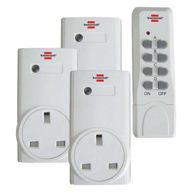 brennenstuhl remote control plug socket set rcs 1000w. Black Bedroom Furniture Sets. Home Design Ideas