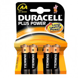 Duracell Alkaline Batteries Pack 4 AA