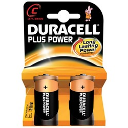 Duracell Alkaline Batteries Pack 2 C