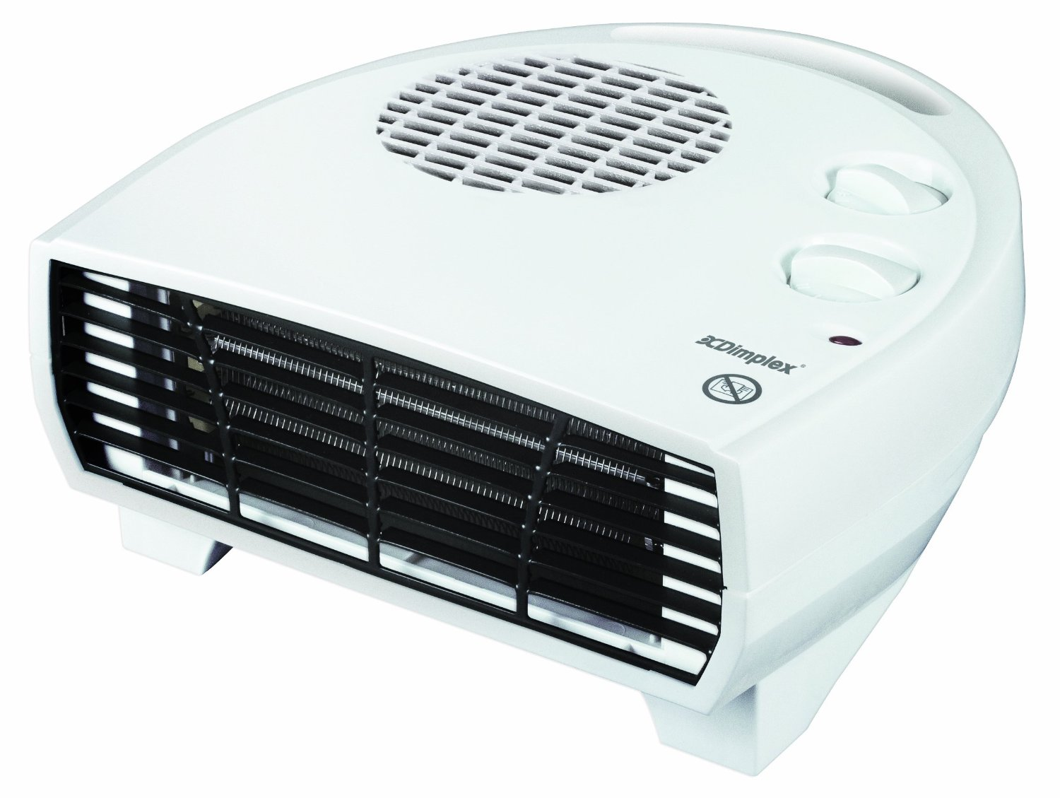dimplex portable thermostatic flat fan heater 3kw. Black Bedroom Furniture Sets. Home Design Ideas