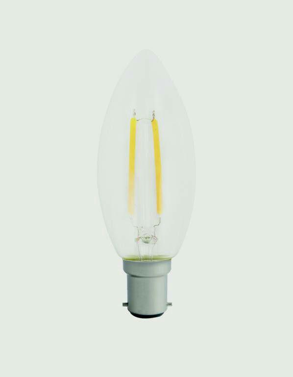 Filament Candle Bulb SBC15 200lm Warm 2w Non-dimmable